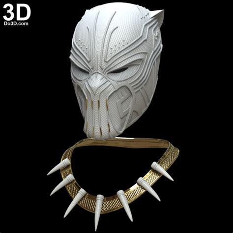 Masker Helm Mask Masker Kacamata 3d printable model golden jaguar erik killmonger helmet