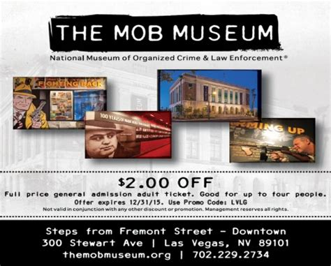 haircut coupons las vegas the mob museum las vegas discount coupon