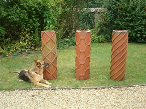 l chimneys for sale 19th century trio of large terracotta chimney pots for