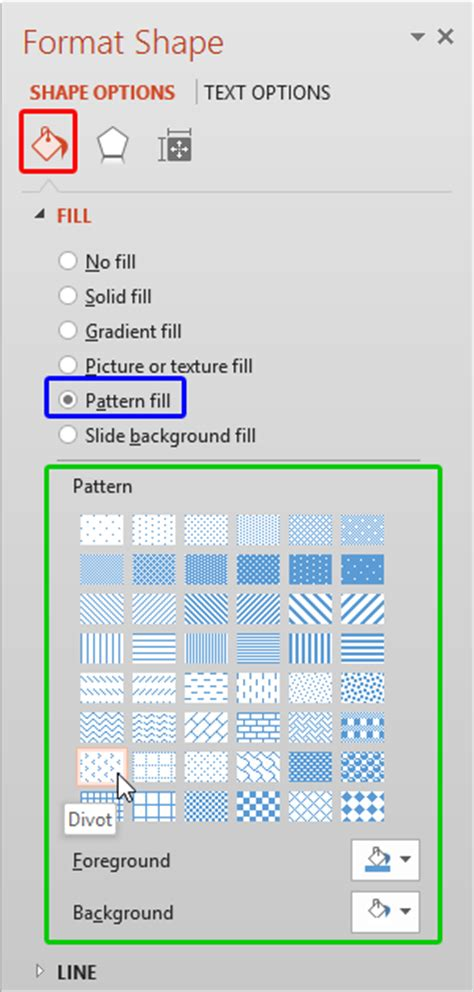 powerpoint shape pattern fill add pattern fills to shapes in powerpoint 2013 for windows