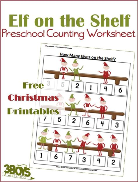 On The Shelf Number by Printable Worksheets Counting 3 Boys And