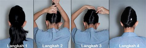 video tutorial cepol rambut cara buat sanggul pramugari french twist croissant