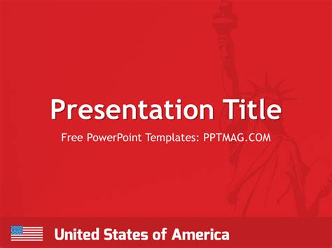 united states powerpoint template free usa powerpoint template pptmag