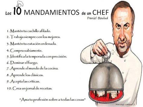 imagenes de chef inspiradoras la buena pitanza los 10 mandamientos de un chef