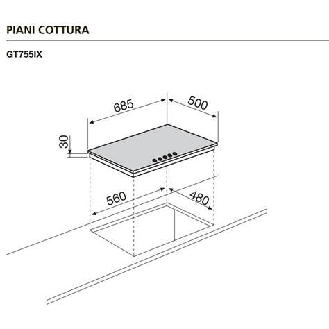 piano cottura 5 fuochi 70 cm glem gas gt755ix piano cottura a gas 70 cm 5 fuochi colore