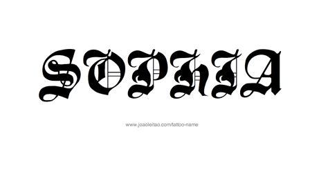 sophia tattoo name designs
