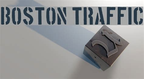 boston traffic font boston traffic schriftart exles
