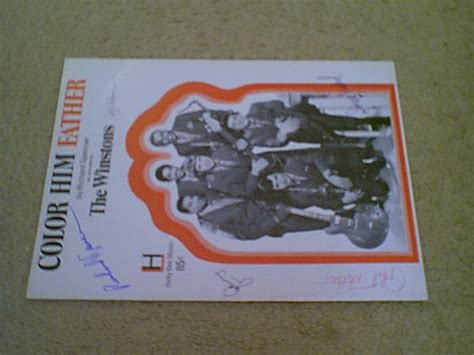 the winstons color him winstons quot color him quot 1969 sheet signed by 5
