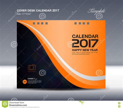 Desk Calendar For 2017 Year, Orange Cover Desk Calendar