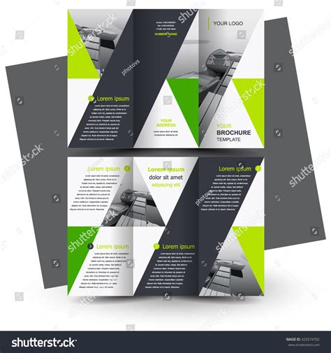 brochure design business brochure template creative stock