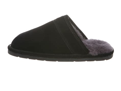 rjs fuzzies slippers rj s fuzzies cowhide suede sheepskin leather lined scuff