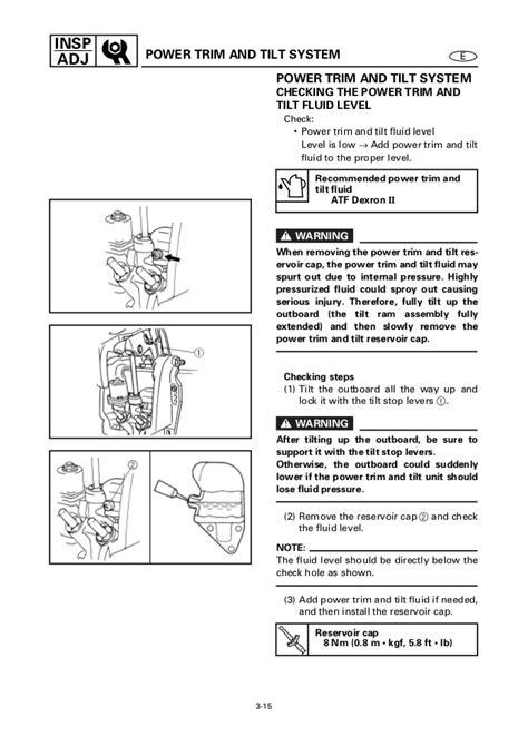 yamaha tilt and trim wiring diagram wiring diagram
