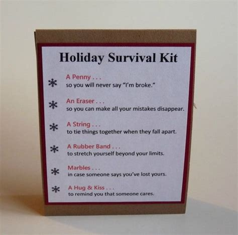 christmas grinch survival kit survival kits survival kit gift bag gifts for adults easy gifts
