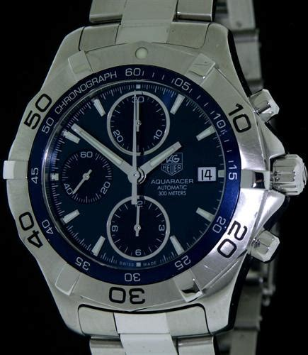 Tag Heuer Clone Aquaracer Blue tag heuer aquaracer automat chronograph caf2112 ba0809 pre owned mens watches