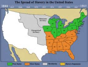 Map Of Slave States by The African Native American Genealogy Blog May 2010