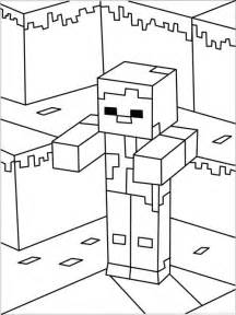 printable minecraft zombie coloring craft