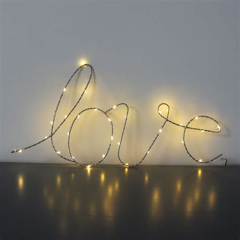 light up word signs love word wall light up sign melody maison 174