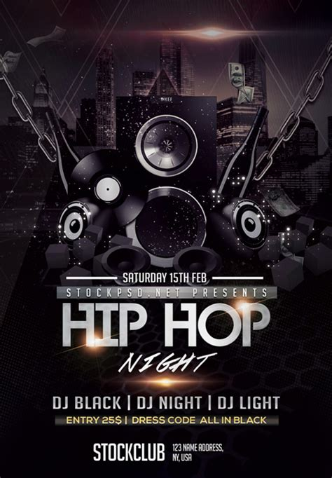 free hip hop flyer templates hip hop free flyer template for