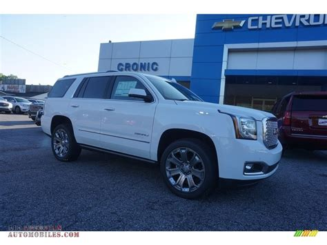 gmc yukon white 2017 2017 gmc yukon denali in summit white 298438 all