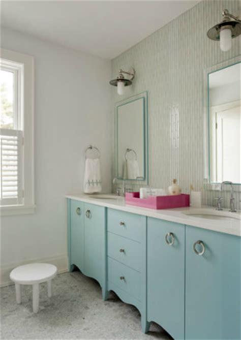 Turquoise Bathroom Vanity Bathroom Design Contemporary Bathroom Liz Caan Interiors