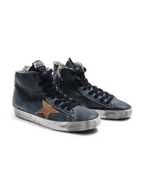 golden goose sneakers on sale golden goose deluxe brand sneakers francy in blue lyst