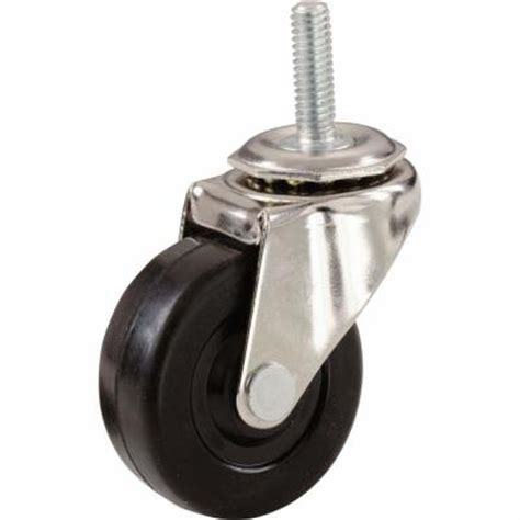 shepherd 2 in soft rubber threaded stem casters with 80