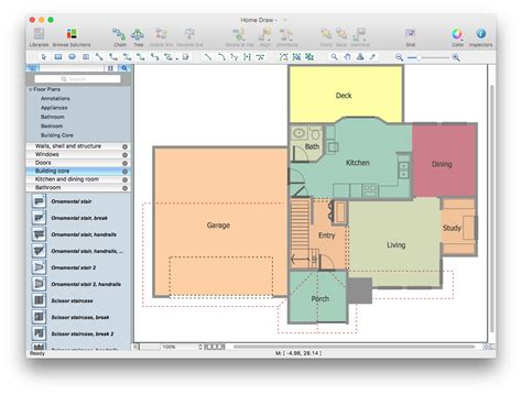 floor plan pro creating professional floor plan conceptdraw helpdesk