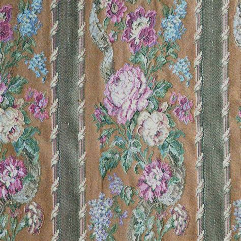 Tapestry Fabric For Upholstery by Tapestry Upholstery Fabric Floral Stripe Brown By
