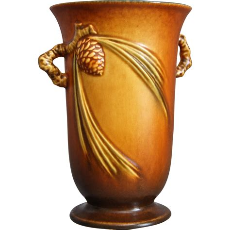 Pinecone Vase by Roseville Pottery Pinecone Vase 838 6 Brown Circa 1936