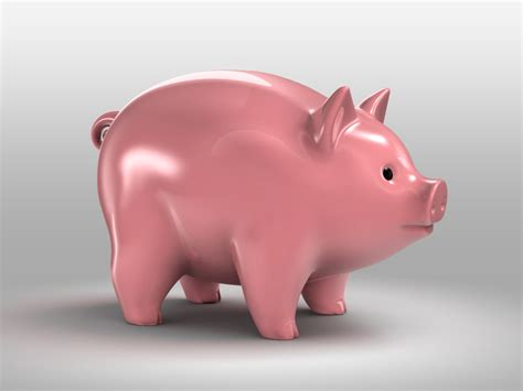 piggy bank 3d obj pig piggy bank