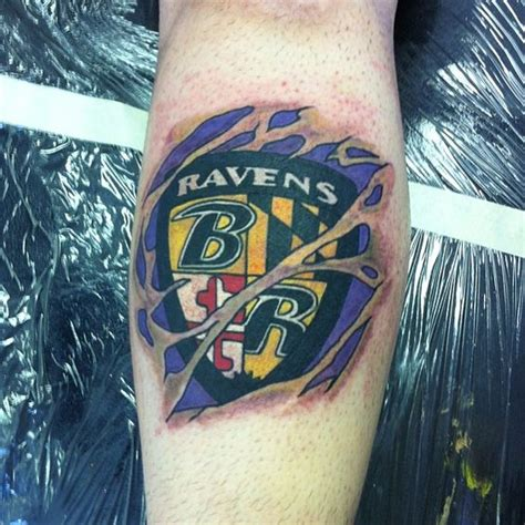 baltimore ravens tattoos baltimore ravens done by clutch richmond va 2014