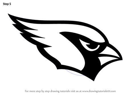 nfl cardinals coloring pages learn how to draw arizona cardinals logo nfl step by