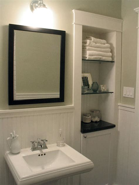 recessed shelves in bathroom classic style bathroom