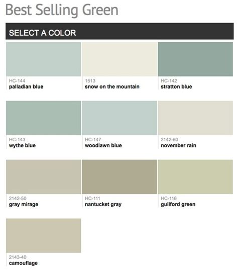benjamin moore most popular greens 190 best images about benjamin moore sherwin williams