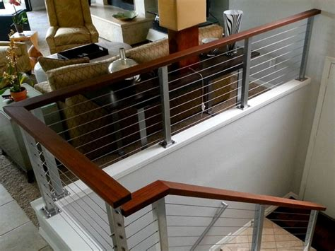 Interior Railing Systems by Cable Railing Vs Glass Interior Railing Systems Railing Stairs And Kitchen Design