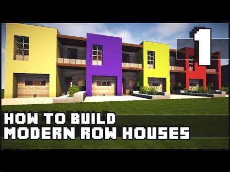 modern row houses minecraft house tutorial 13x13 modern house doovi