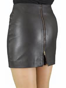 soft leather mini skirt with full rear zip tout ensemble