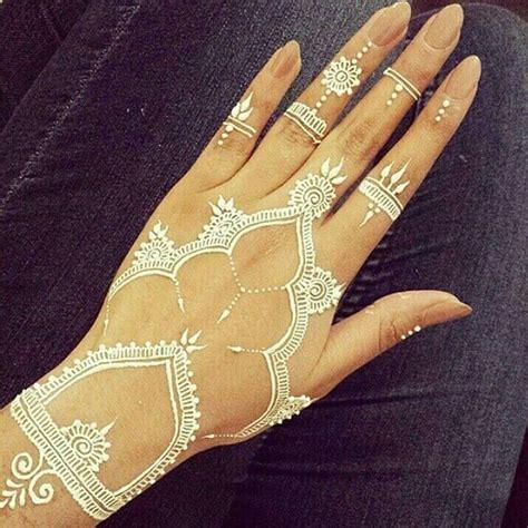 henna tattoo and chlorine 19 stunning white henna designs for you