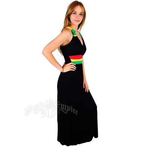 Dress Black Raisya rasta and reggae dress bungee straps dress