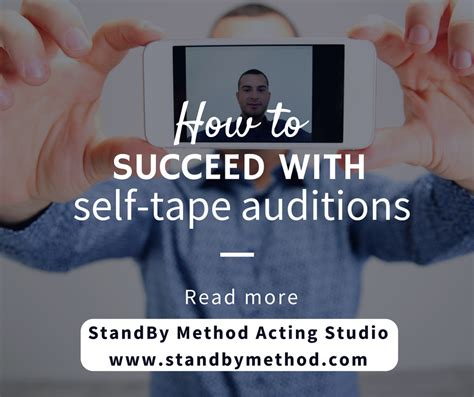 famous actors self tapes how to succeed with self tape auditions standby method