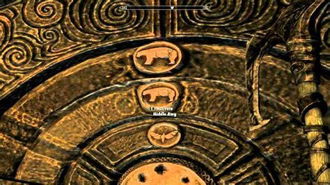 pattern to unlock door in skyrim skyrim how to unlock the door using the golden claw youtube