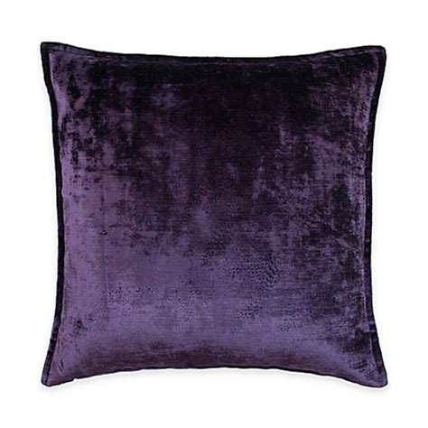 purple throw pillows for bed austin horn classics escapade velvet square throw pillow