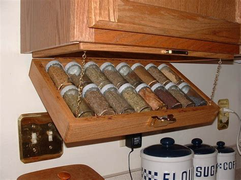 diy under cabinet storage under cabinet spice rack by grant davis lumberjocks