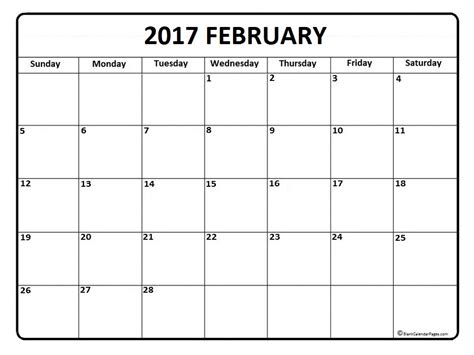 printable calendar february 2017 february 2017 calendar february 2017 calendar printable