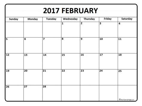 printable calendar pages 2017 blank 2017 february calendar calendar 2017