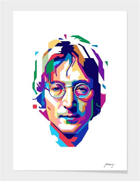 Canvas Decor Jhon Lenon Wpap 171 Lennon In Wpap 187 Limited Edition Print By