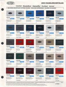 2003 Dodge Ram 1500 Paint Colors Paint Chips 2003 Chrysler Caravan