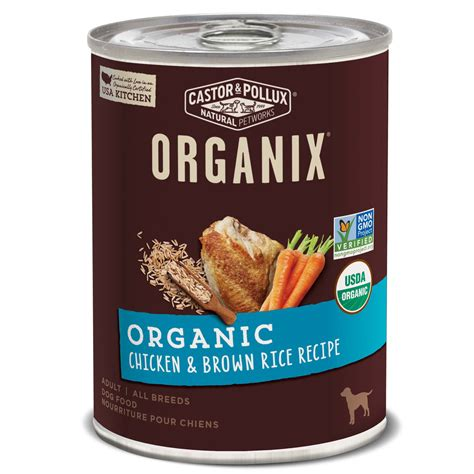 castor and pollux puppy food castor pollux organix organic chicken brown rice