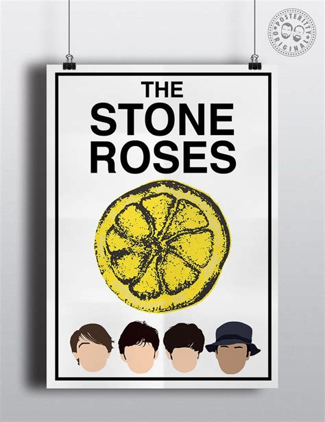 stone roses lemon tattoo the roses minimalist poster by posteritty ian brown