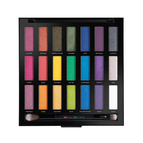 Decay Eyeshadow Palette spectrum eyeshadow palette rainbow eyeshadows